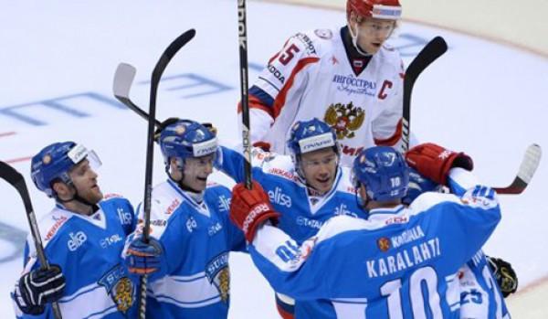 Сборная Финляндии обыграла Россию