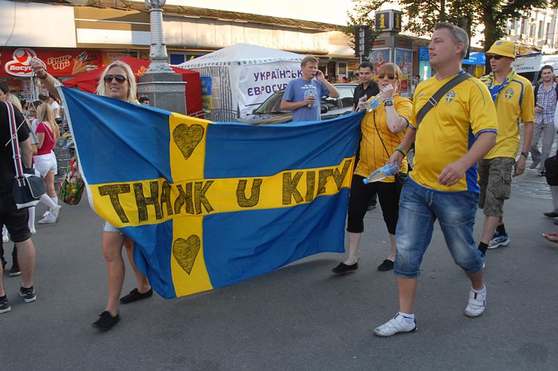 Шведы трогательно прощаются с Киевом