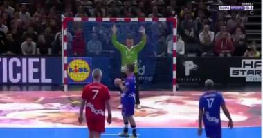 Видео ювелирного исполнения семиметрового в гандболе