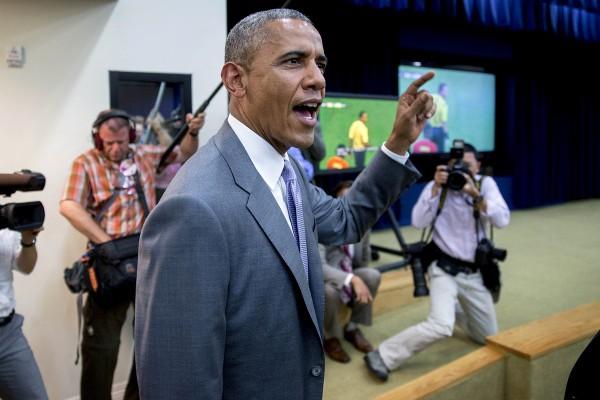Как Барак Обама смотрел футбол