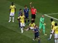 ЧМ-2018: игрок сборной Колумбии заработал первое удаление на мундиале