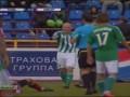 Не впечатлил. Игрока Амкара наказали за симуляцию после попадания мяча ему в руку