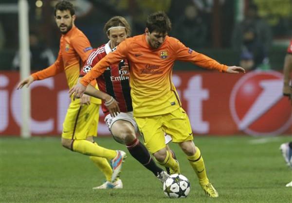 Месси не смог забить Милану