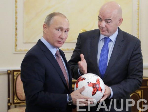 Владимир Путин и Джанни Инфантино