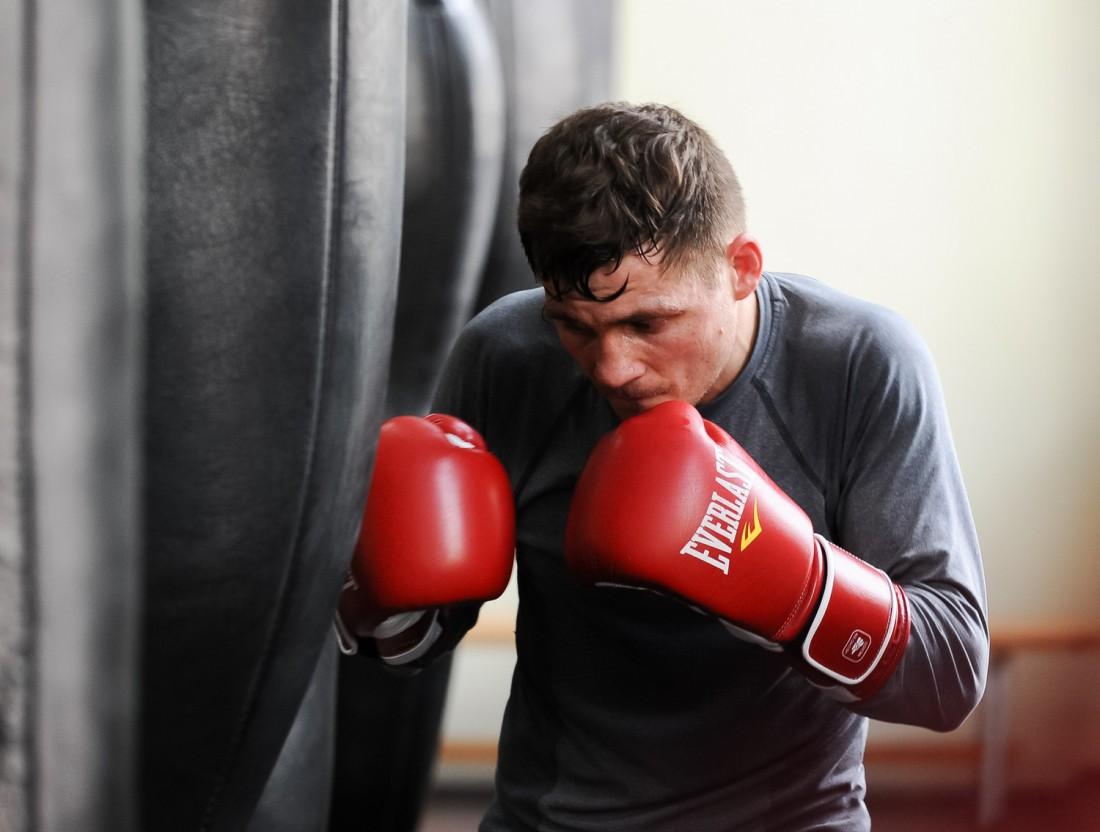 Денис Беринчик во время тренировки