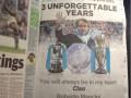 Фанаты МанСити попрощались с тренером, выкупив страницу в газете (ФОТО)