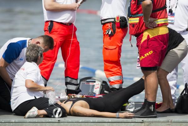 Наталье Харлос стало плохо во время заплыва на 10 км
