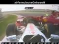 Столкновение Хэмилтона и Массы на Гран-при Индии