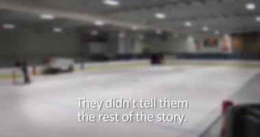 Праздник для детей. Команда NHL устроила шоу для юных хоккеистов