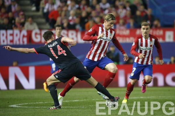 Фернандо Торрес в первом матче 1/2 финала Лиги чемпионов против Баварии