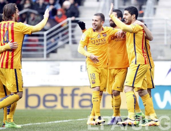 Барселона обыграла Эйбар со счетом 4:0