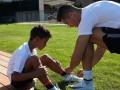 Весь в отца: сын Роналду исполнил эффектный финт и забил гол