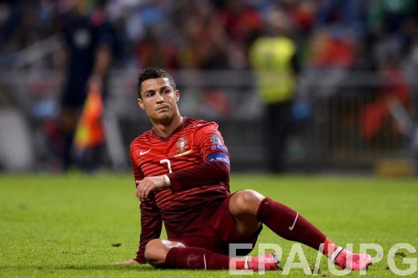Роналду в матче сборной Португалии