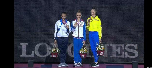 Никольченко завоевала бронзовую медаль ЧМ по художественной гимнастике