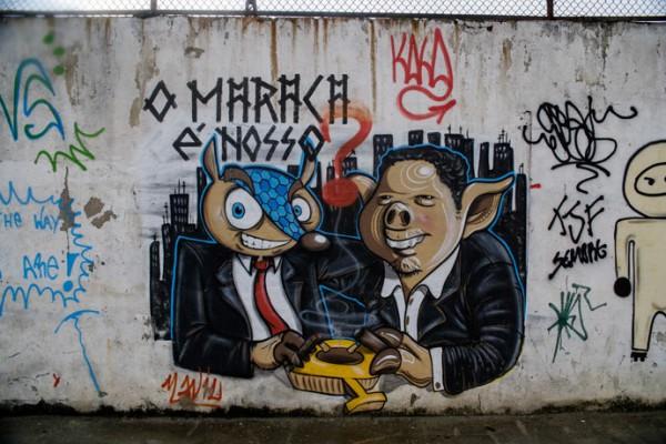 Граффити против чемпионата мира в Бразилии