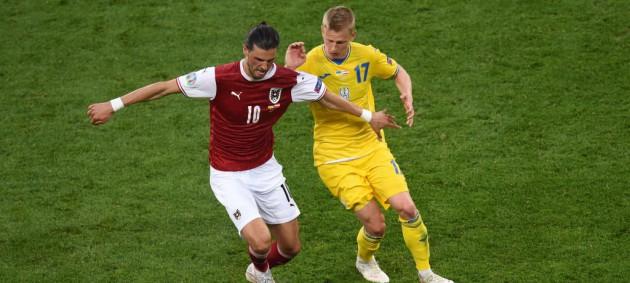 Украина минимально проиграла сборной Австрии и заняла третье место в группе
