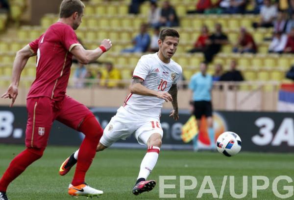 Сборная России не удержала победный счет в матче с Сербией
