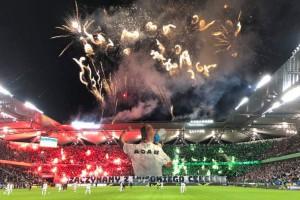 Фанаты Легии устроили красочный перфоманс в качестве акции протеста против полиции