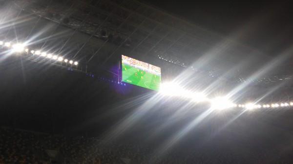 Матч Украина - Люксембург во время тренировки сборной Словении