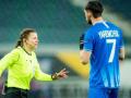 Монзуль показала 9 желтых карточек в дебютном матче в группе Лиги Европы