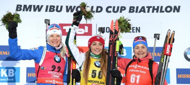 Биатлон: Вирер вырвала победу у Макарайнен, украинки провалили спринт
