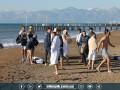 Олимпик отметил Крещение заплывом в Средиземном море