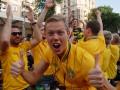 Фотогалерея: Желтое море. Киевская фан-зона за день до матча Украина - Швеция