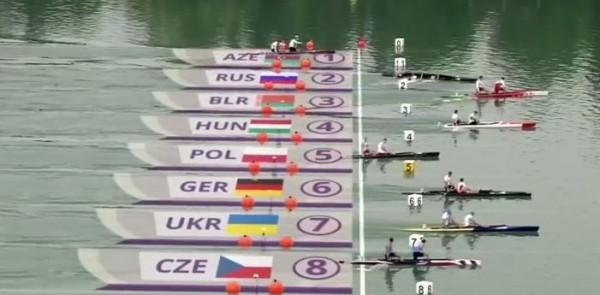 Каноэ с российскими спортсменами не доплыло до финиша (2-я дорожка)