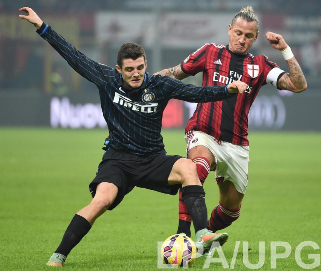 Матео Ковчич в матче против Милана, выступая за Интер