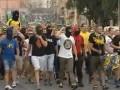 Фанаты организовали марш в поддержку Металлиста в еврокубках (ВИДЕО)