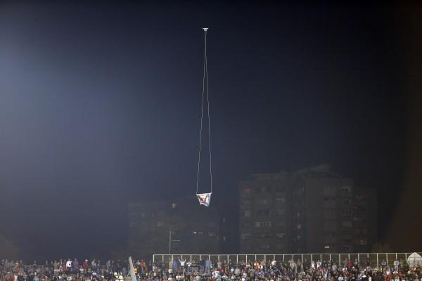 Беспилотник сорвал матч Сербия - Албания