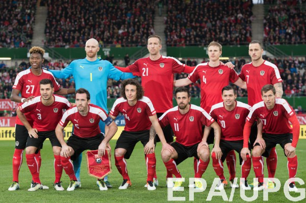 Стартовые составы на матч Исландия - Австрия