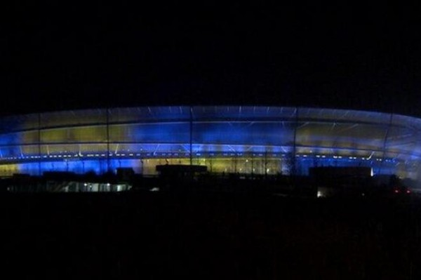 Стадион во Вроцлаве окрасился в украинские цвета