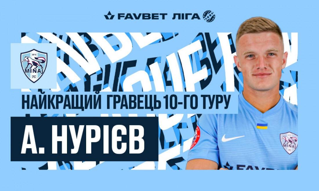 Анатолий Нуриев - лучший футболист 10-го тура УПЛ
