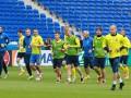 Сборная Украины прибыла на стадион в Лионе на матч с Северной Ирландией