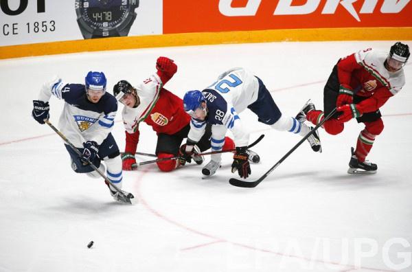 Финляндия и Венгрия провели матч в упорной борьбе