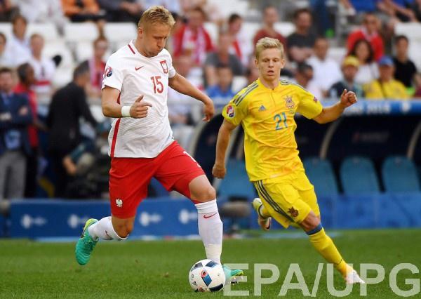 Зинченко в матче со сборной Польши