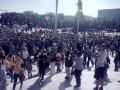 Ультрас Металлиста и Днепра провели марш в поддержку украинской армии