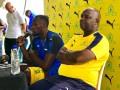 Звезда легкой атлетики Усэйн Болт тренируется с лидером чемпионата ЮАР