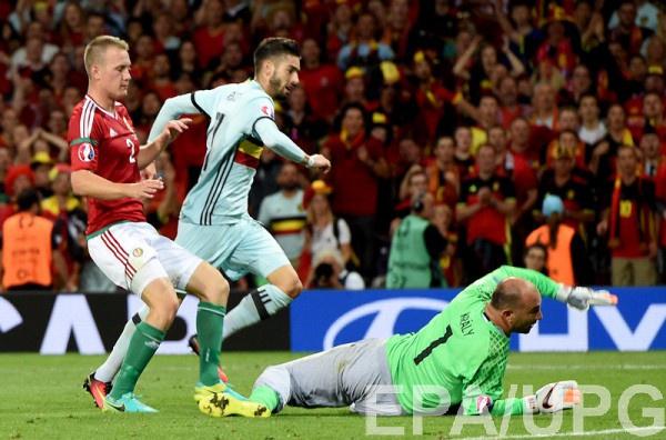 В матча Бельгия - Венгрия установлен рекорд Евро-2016 по количеству нанесенных ударов