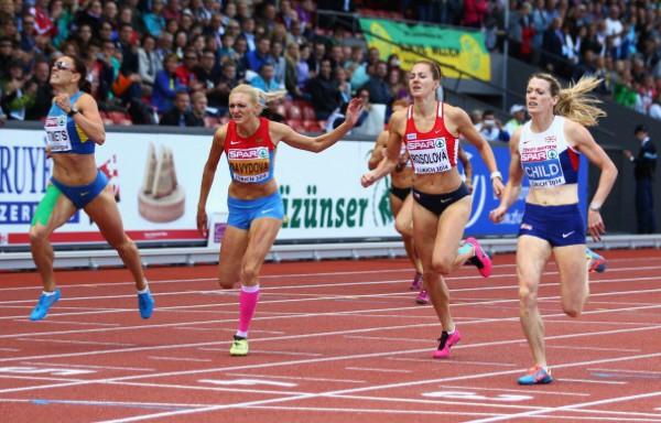 Анна Титимец второй пересекла финишную линию