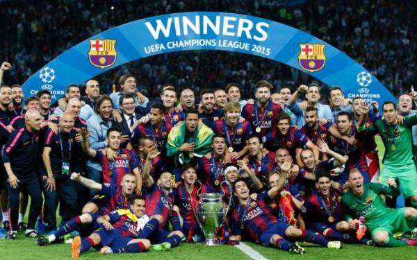 Барселона- действующий победитель Лиги чемпионов