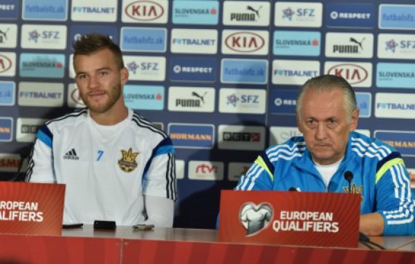 Андрей Ярмоленко и Михаил Фоменко