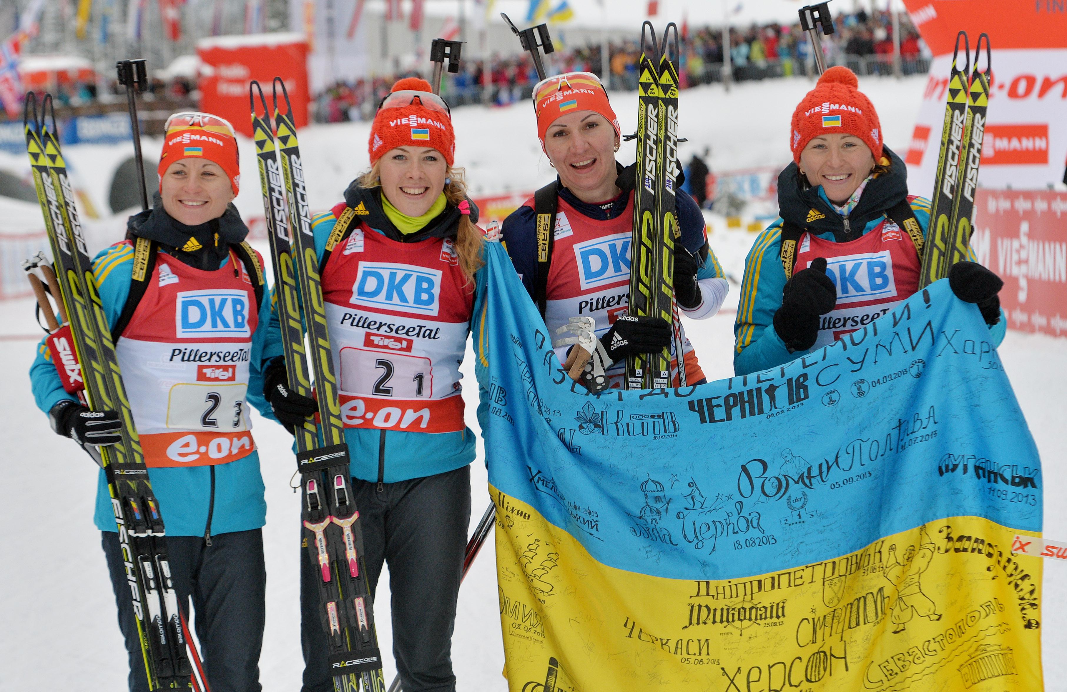 Украинские биатлонистки удерживают лидерство в Кубке наций