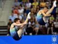 Украинцы Давиденко и Просторов выиграли серебро в синхронных прыжках на батуте
