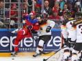 Российский хоккеист отправил игрока сборной Германии в полет