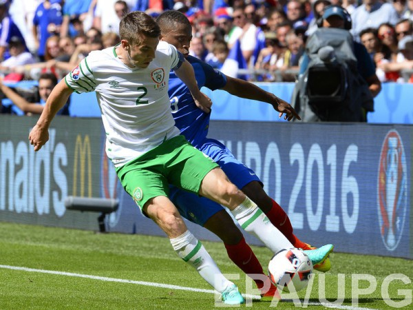 Коулман во время матча с французами