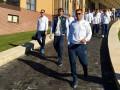 Футболисты сборной Украины прогулялись в Харькове перед матчем с Чехией