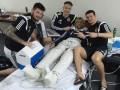 Прикол дня: Игроки сборной Украины вылечили старые косточки Тимощука