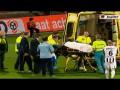 Получил по шее: Вратарь отправил соперника в нокаут ударом колена